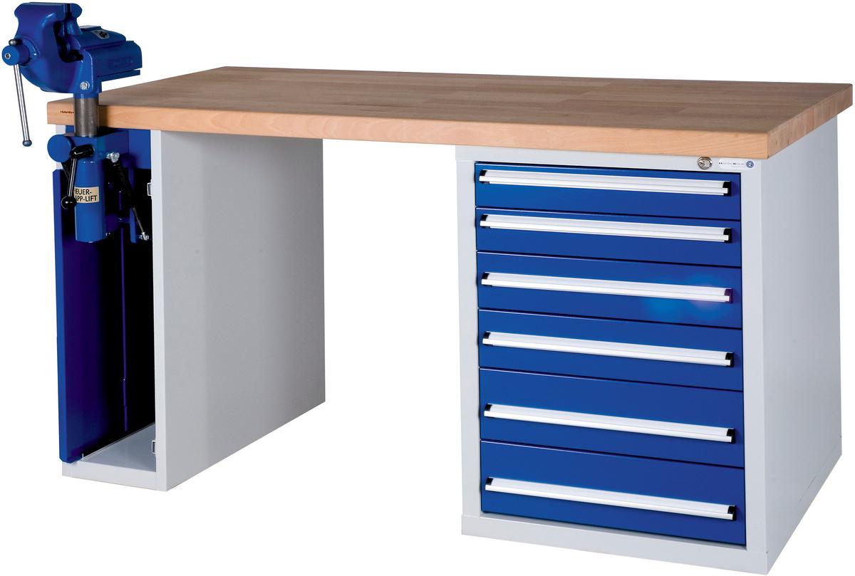 hk werkbank serie wgs mit unterbauschrank mit einklappbarem schraubstock 50212037 042 hahn kolb. Black Bedroom Furniture Sets. Home Design Ideas