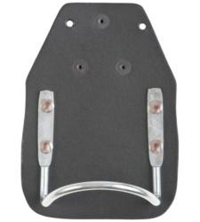 Schwarzer, praktischer Hammerhalter aus Leder mit Metallhalterung, leicht anzubringen, für Handwerker, Dachdecker & Zimmerer