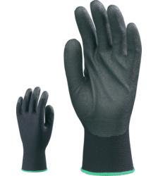 Photo de 10 paires de gants de travail polyester enduits pvc-hpt