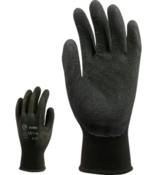 Photo de 10 paires de gants de travail nylon enduits latex