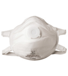 Photo de 5 masques de protection coque ffp3 avec valve