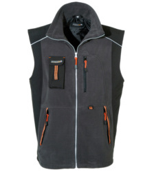 Foto von Softshell Mix Weste Work Grau,Orange