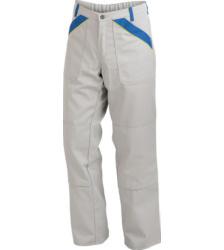 Arbeitshose grau für Fliesenleger, strapazeirfähiges Material, mit vielen Taschen, EN 14404 für Kniekissen, Baumwolle und Polyester