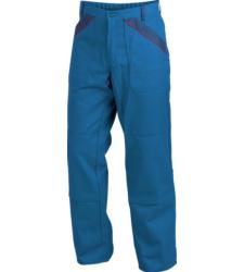 Arbeitshose marine blau für Elektriker, mit Knietaschen nach EN 14404, aus Baumwoll-Polyester Mischgewebe, günstig