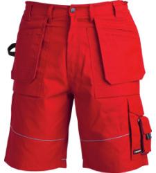 Arbeitsshort rot für Lagerarbeiter