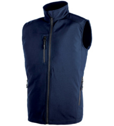 Gilet in softshell navy da uomo City