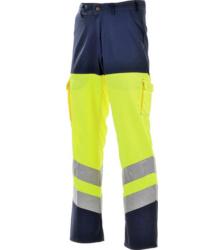 Photo de Pantalon haute visibilité jaune fluo/marine EN 471
