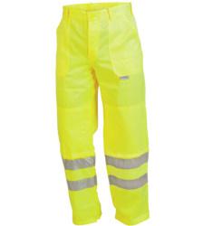 Arbeitshose gelb für Straßenbau