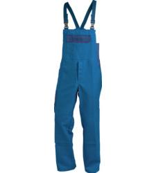 Latzhose marine blau für Heizungs und Lüftungsmonteure, praktische Taschen, Baumwoll-Polyester Mischgewebe, robust, EN 14404