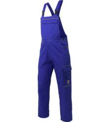 Latzhose royal blau für Arbeiter, aus 100% BAumwolle, hochwertig, Okö Tex Standard