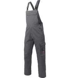 Bequeme Latzhose grau für Bauarbeiter und Lackierer, aus hochwertiger Baumwolle, preiswert