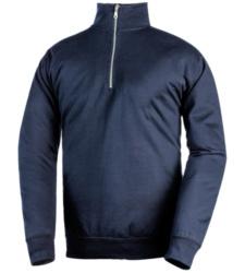 Sweatshirt mit Reißverschluss marineblau