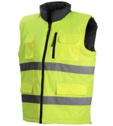 Photo de Gilet haute visibilité réversible Flash jaune fluo