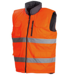 Photo de Gilet haute visibilité réversible Flash orange fluo