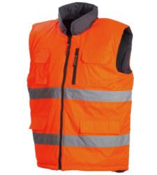 Photo de Gilet haute visibilité réversible Flash orange fluo