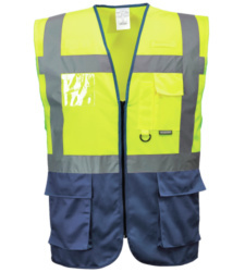 Photo de Gilet haute visibilité Executive Jaune fluo/Marine