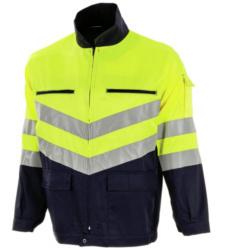 Photo de Veste haute visibilité jaune fluo/marine EN 471 2/2