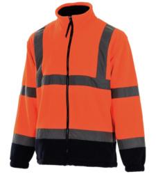 Photo de Veste polaire haute visibilité orange fluo/marine EN 471 3/7