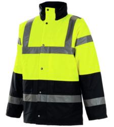 Photo de Parka haute visibilité Traffic jaune fluo/marine EN 471 3/2
