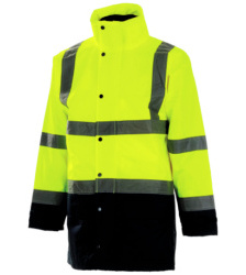 Photo de Parka haute visibilité 5 en 1 Executive jaune fluo/marine EN 471 3/1