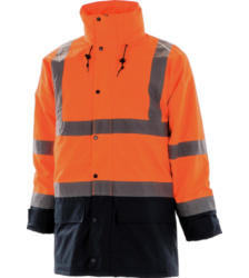Photo de Parka haute visibilité 5 en 1 Executive orange fluo/marine  EN 471 3/1
