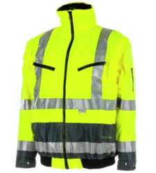 Warnschutzjacke gelb für Straßenbau