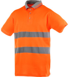 Photo de Polo haute visibilité orange fluo