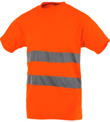Photo de Tee-shirt haute visibilité orange fluo
