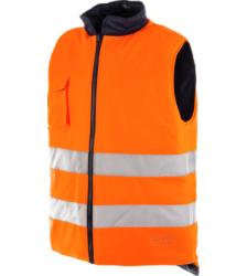 Gilet alta visibilità invernale arancione reversibile