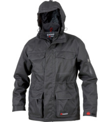 Weterschutzjacke schwarz für Maurer