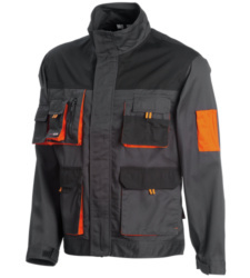 Photo de Veste de travail Chrono anthracite noire/orange