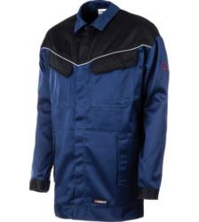 Arbeitsjacke blau für Schweißer, robust, schützt gegen thermische Gefahren durch Störlichtbögen, flammheemend