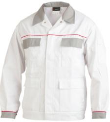 Arbeitsjacke weiß für Maler, strapazierfähiges Material, Baumwolle & Polyester, günstig, mit praktischen Taschen