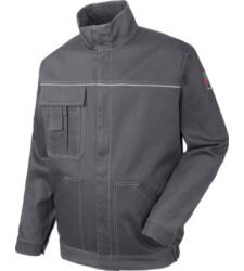 Arbeitsjacke in grau für Lackierer, klassisches Design, 100% Baumwolle, zweckmässig und bequem, Öko Tex 100
