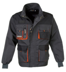 Foto von Bundjacke Work dunkelgrau orange