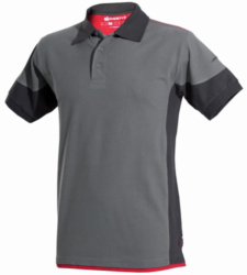 Photo de Polo de travail Stretchfit gris/anthracite