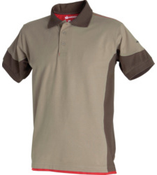 Beige stretchfit polo
