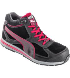 Photo de Chaussures de sécurité Puma Montantes FullTwist Mid S3 SRC noires/rouges