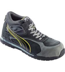 Photo de Chaussures de sécurité Puma Montantes Flare Mid S3 SRC grises/jaunes