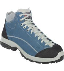 Scarpe alta antinfortunistica blu con lacci