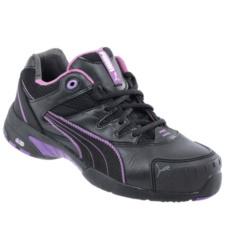 Photo de Chaussures de sécurité femme Puma Stepper S2 SRC noires/violettes