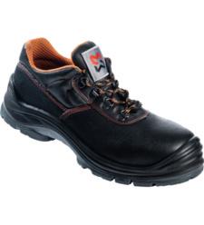 Chaussure de travail avec du cuir imperméable comme épiderme