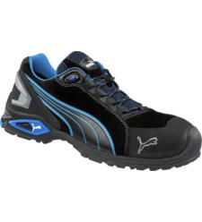 Chaussures de sécurité Puma Safety Shoes noires et bleues avec coque en aluminium, légères et confortables