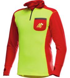 Foto von Funktions Langarmshirt AX-MEN ISO gelb rot