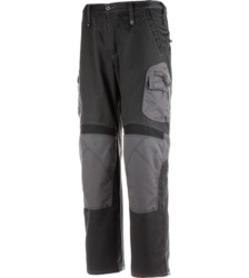 Arbeitshose schwarz für Handwerker, Bund mit Gummizug, für Systemtaschen geeignet, EN 14404 zertifiziert