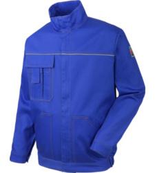Arbeitsjacke royalblau für Metallbau und Elektriker, günstig, hochwertig aus Baumwolle, bequem