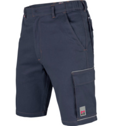 Arbeitsshorts blau für KfZ-Mechaniker, 100% Baumwolle, günstig und zweckmäßig, funktionell und hochwertig