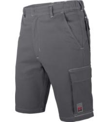 Arbeitsbermuda grau für Maurer und Handwerker, 100% Baumwolle, optimale Bewegungsfreihet, hochwertig und klassisch