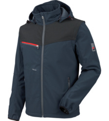 Foto van Softshell jack Stretch X Würth MODYF marineblauw