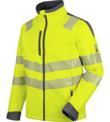 Foto von Warnschutz Softshelljacke Neon EN 20471 3 gelb anthrazit